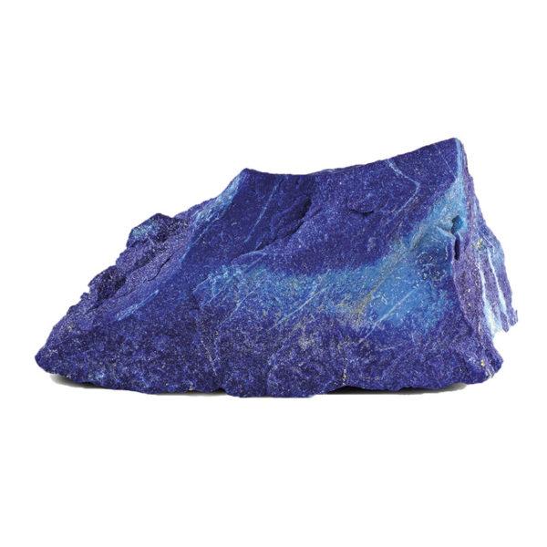Pierre de Lapis Lazuli sur fond blanc